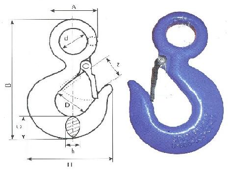 Крюк с предохранителем SALKA тип 320А