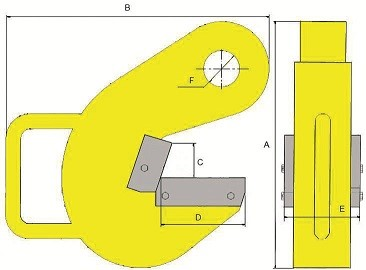 Захват для горизонтального подъема труб