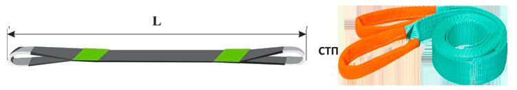 Строп текстильный ленточный петлевой СТП