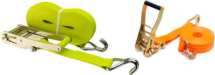 Ремень с натяжным устройством и крюками