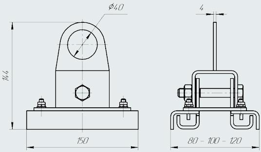 Универсальный захват для сэндвич-панелей ZKSU-8-12